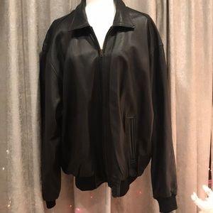 Vintage Golden Bear Leather Bomber Jacket! Size XL